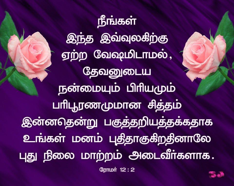 Free Christian Wallpapers: Tamil Bible Verse Wallpaper