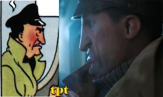 Allan - comparação entre o desenho original e a versão de Spielberg e Jackson