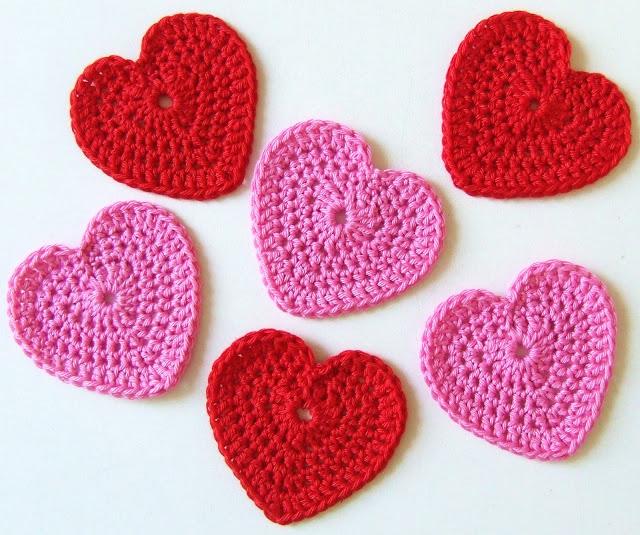 Free Crochet Pattern For Little Heart : Lindevrouwsweb: Hartjes haken