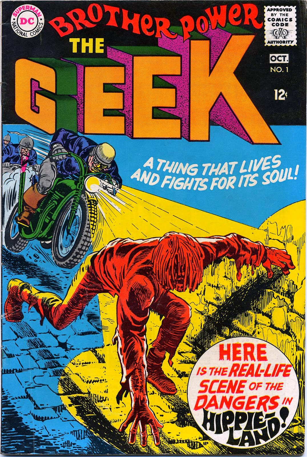 Figure 355: Brother Power The Geek, Written And Drawn By Joe Simon, Lasted  Only Two Issues
