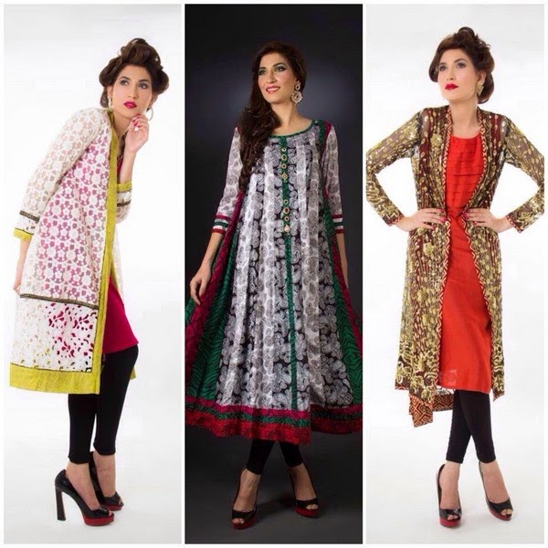 Annus Abrar Summer and Eid Collection 2014- Formal Long Shirts