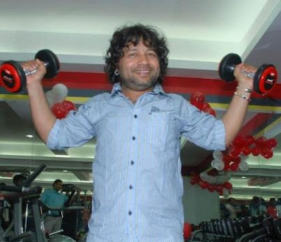 Kailash Kher working for personal Fitness