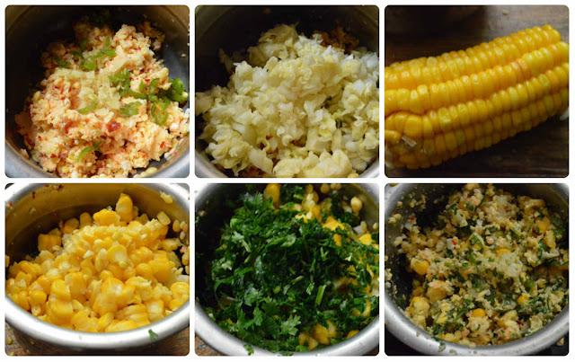 mixed dal sweet corn vadai