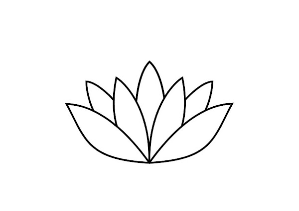 Lotus Flower Coloring Sheet