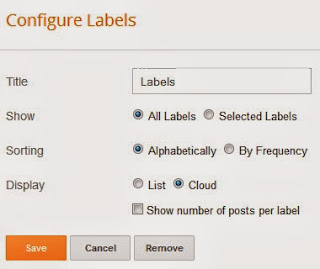 Best Stylish Design for Label and Categories Widget