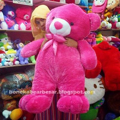 boneka-beruang-besar-murah-pink