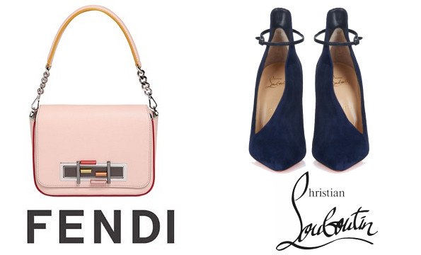 Queen Rania's FENDI Baguette Chain Bag and Christian Louboutin pumps