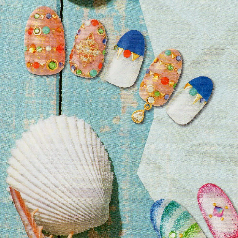 Summer nail art trend from Japan, Jewel nails