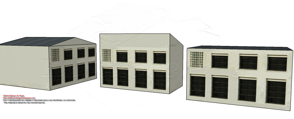 "Second façade delivered for the ""Steel Plant"" paper model"