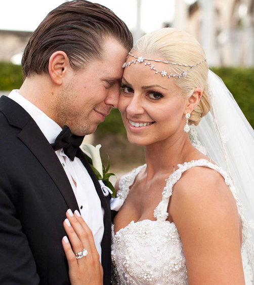the miz super estrella de la WWE se casa con la ex diva y modelo playboy Maryse, la canadiense maryse y the miz