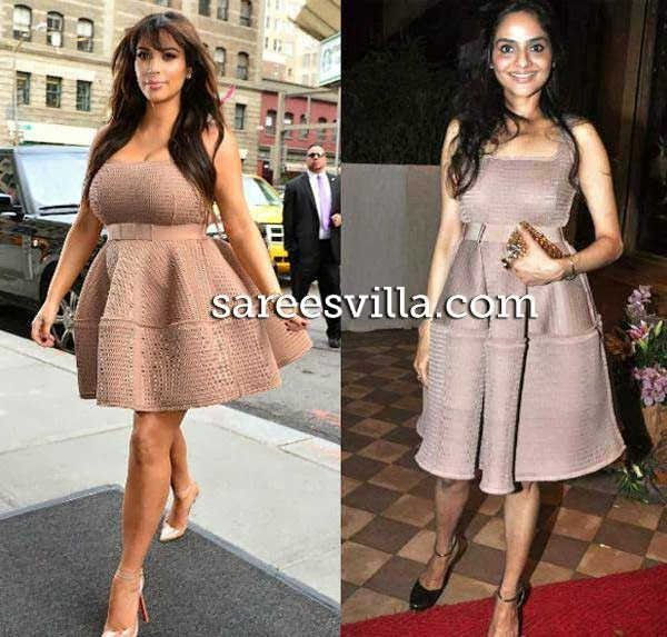 Kim Kardashians and Madhu in same dress.