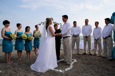 Beach wedding ceremony at Sprucewood Shores Estate Winery - Cara Mia Events