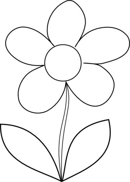 Printable coloring pages of flowers for kids disney for Coloring pages for kids flowers
