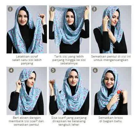 5 Kreasi Hijab Modern Terbaru 2016
