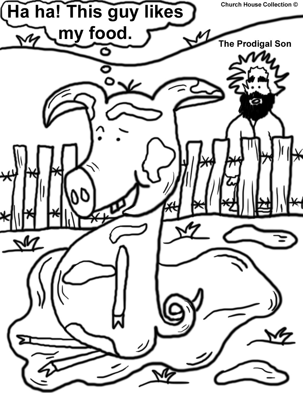 prodigal son coloring pages - photo#5