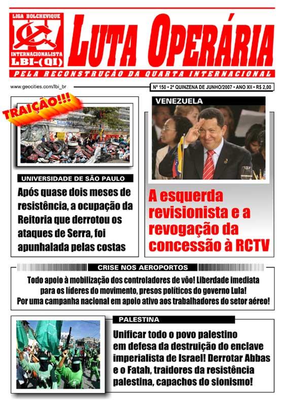 JORNAL LUTA OPERÁRIA Nº 150 - JUNHO/2007