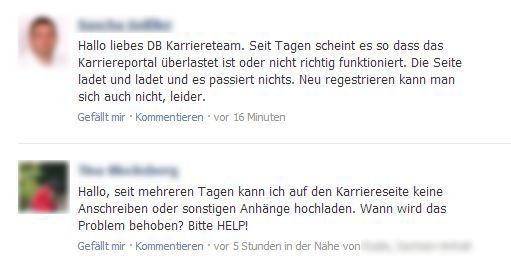 so sollte es nicht laufen zumindest aber existiert ein ansprechpartner quelle deutsche bahn karriere - Bewerbung Deutsche Bahn