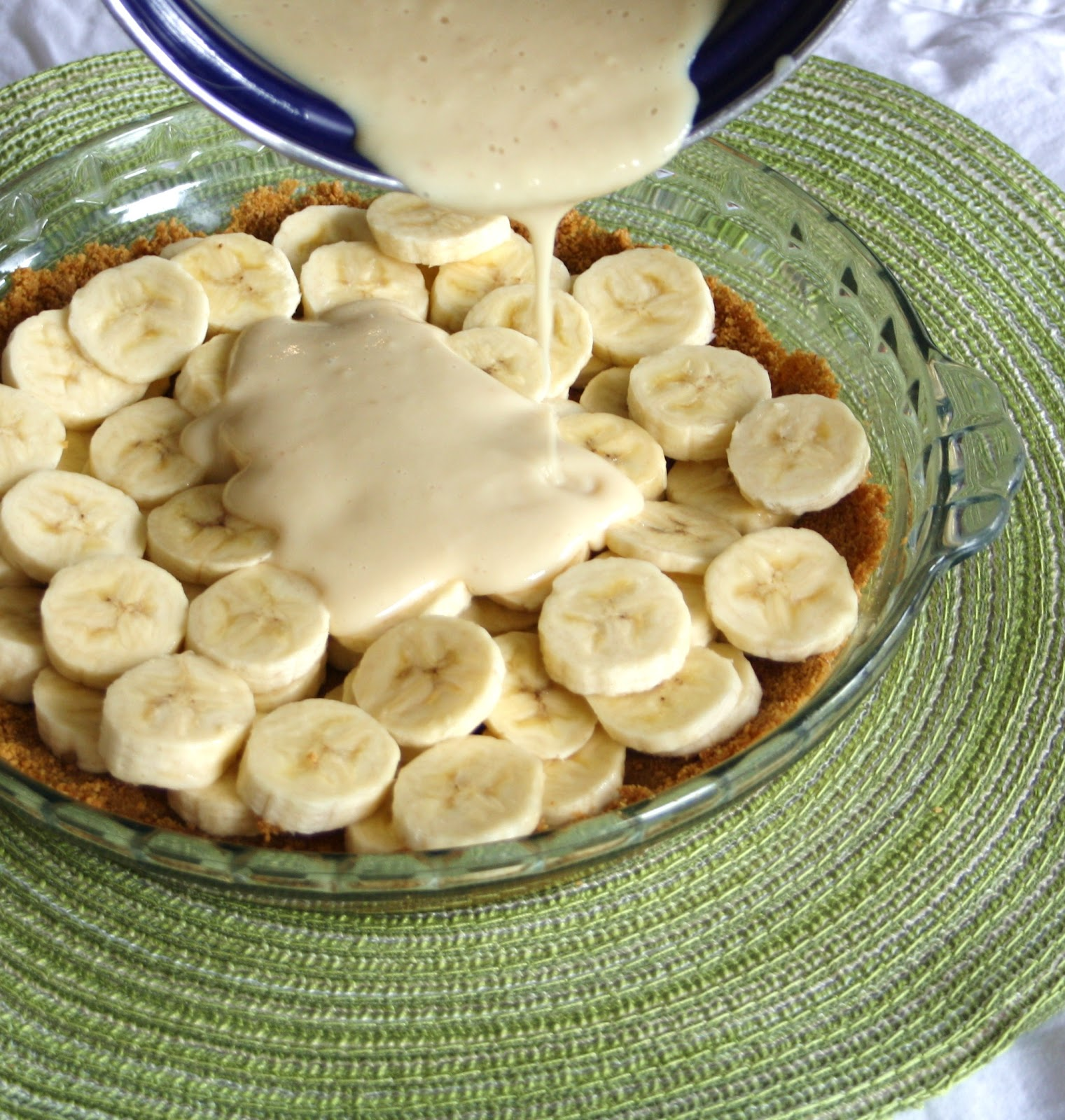 Vanilla Infused Banana Cream Pie with a Whole Grain Graham Crust