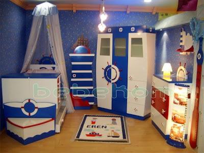 mavi beyaz renkte bebek odasi takimlari modelleri En Güzel Bebek Odası Takımları Ve Resimleri