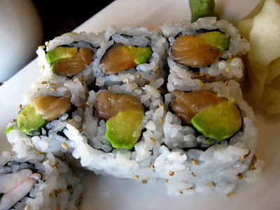 Salmon Avocado Roll at Natsumi Restaurant in New York, NY - Photo by Michelle Judd of Taste As You Go
