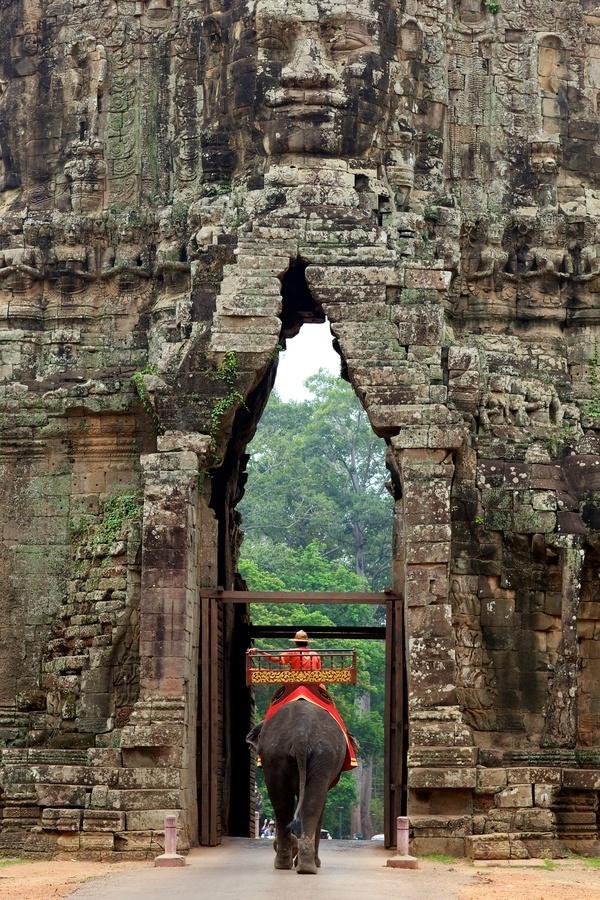 Gate of Angkor Thom Cambodia