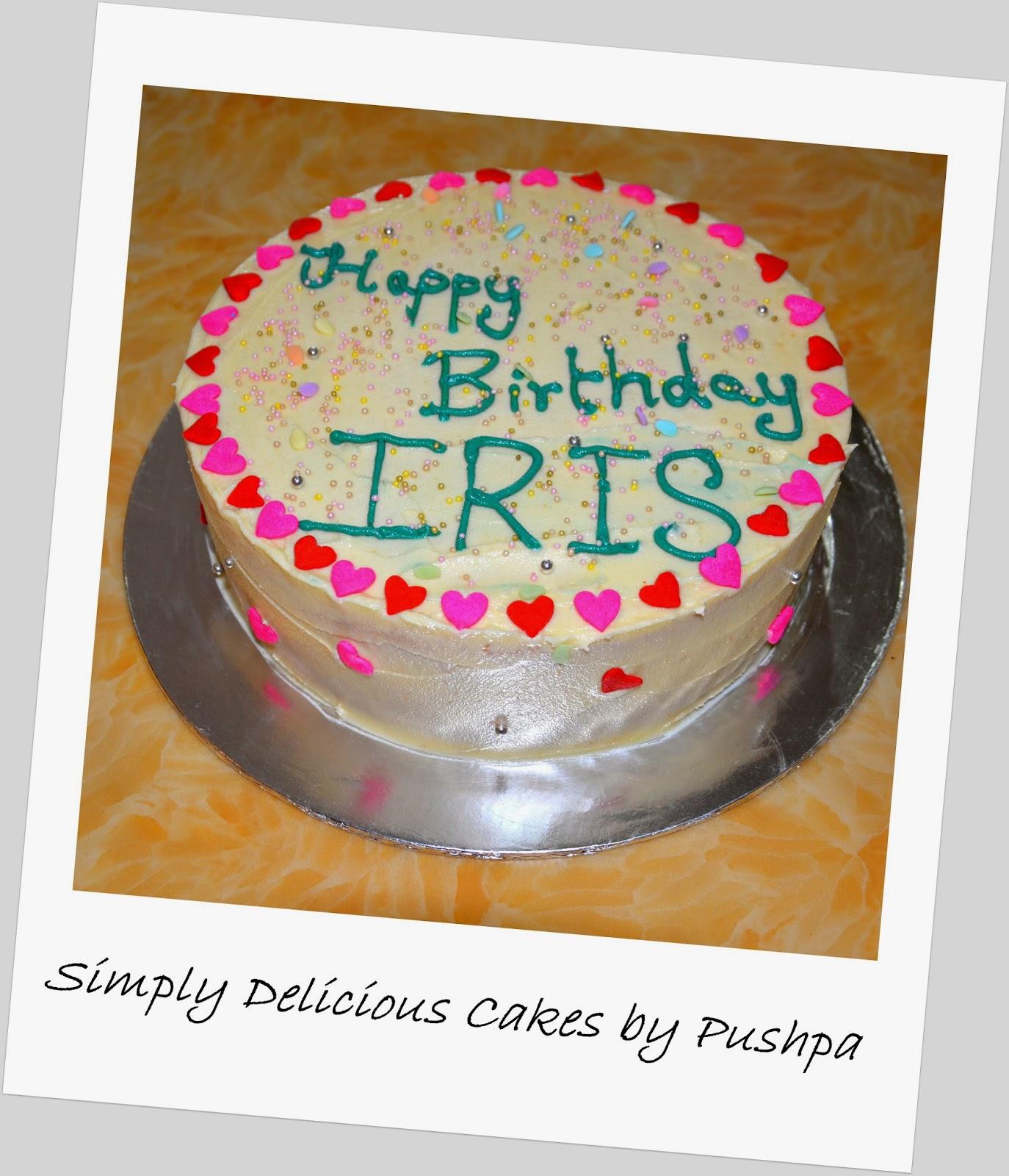 SIMPLY DELICIOUS CAKES: Birthday Cake