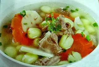 Món ăn ngon: Chân giò hầm hạt sen