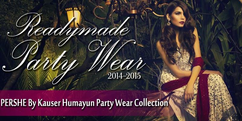 PERSHEByKauserHumayunPartyWearCollection2014 wwwfashionhuntworldblogspotcom 0001 - PERSHE By Kauser Humayun Party Wear Collection 2014-15