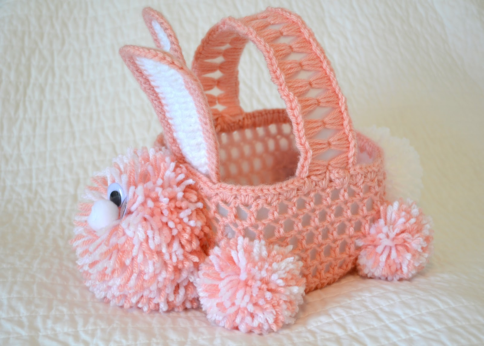 Free Printable Crochet Basket Patterns : Free Easy Crochet Easter Basket Pattern Car Interior Design