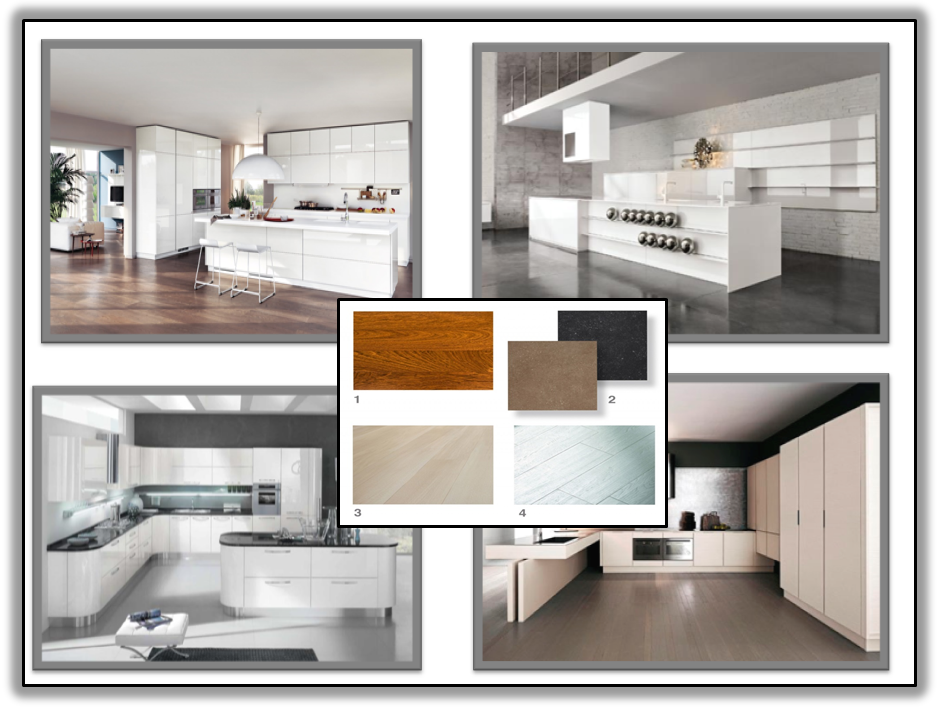 La cucina bianca gena design for Tavole colori per pareti