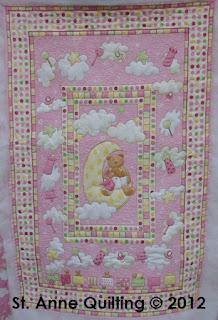 Eden and Eliot: Circle Applique Baby's Mini Quilt - From