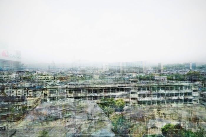 ©Takatoshi Masuda - Beyond the Train window. Photography Multi-exposure landscape
