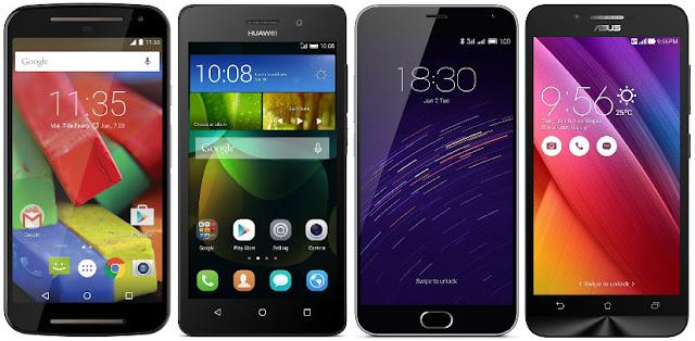 Comparativa de los mejores móviles Android de unos 150 euros de precio y una pantalla de 5.0 pulgadas
