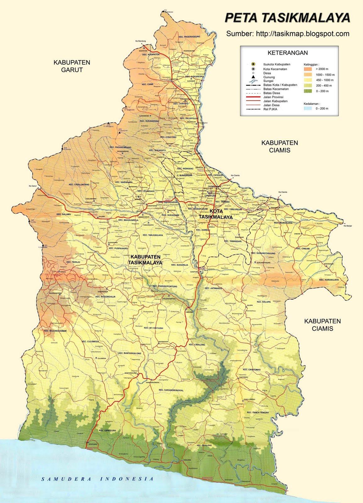 Peta Kota Peta Kabupaten Tasikmalaya