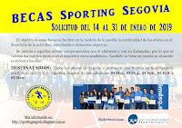 BECAS SPORTING SEGOVIA 2018/2019. SOLICITUD DEL 14 AL 31 DE ENERO.