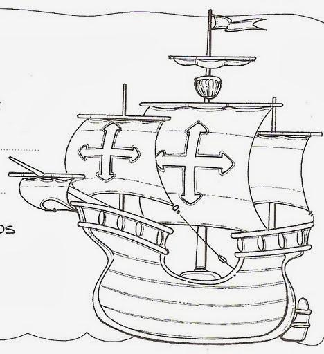 Dibujos y Plantillas para imprimir Cristobal Colon