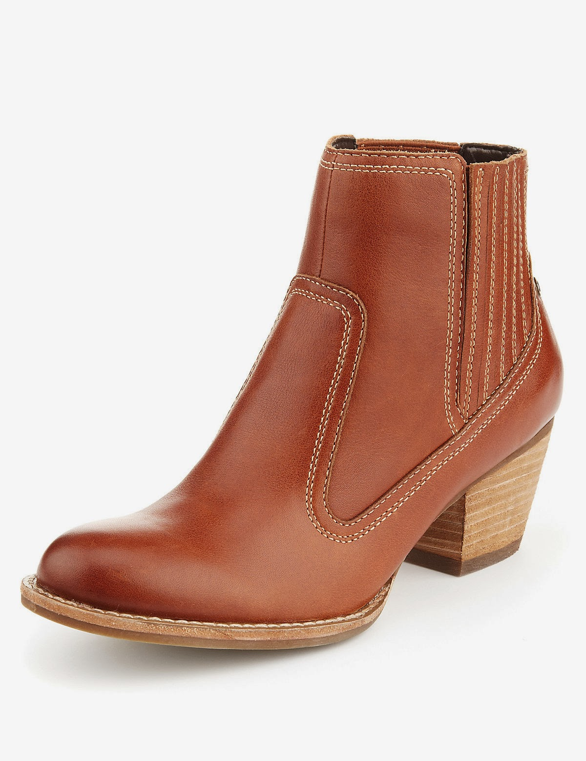 Tan Boots from Indigo at Marks & Spencer