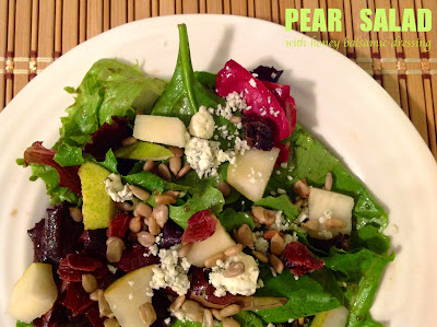 Pear Salad with Honey Balsamic Dressing