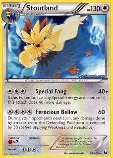 Stoutland Dark Explorers Pokemon Card