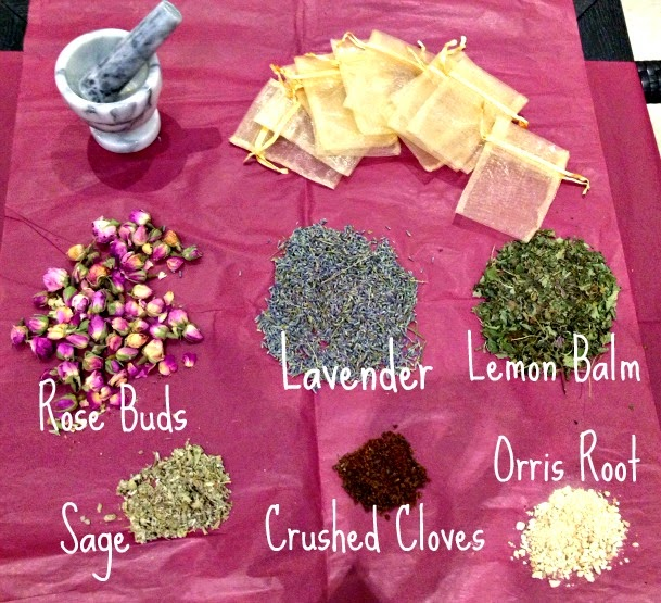 Ingredients for DIY homemade potpourri