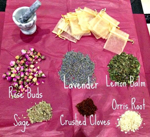 Ingredients for DIY homemade potpourri
