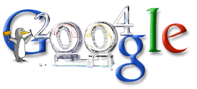 New Year 2004 Google Doodle