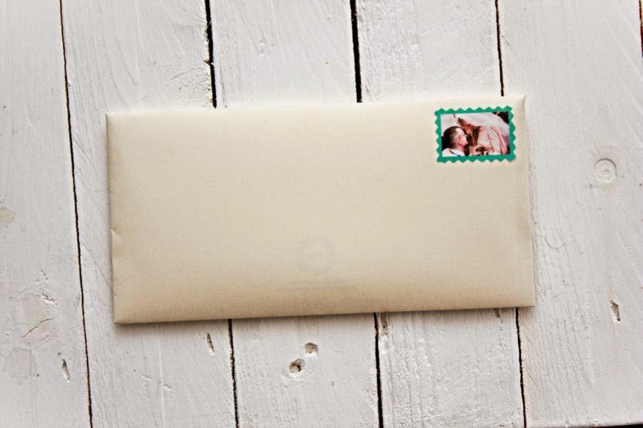 znaczek pocztowy na zaproszenie slubne
