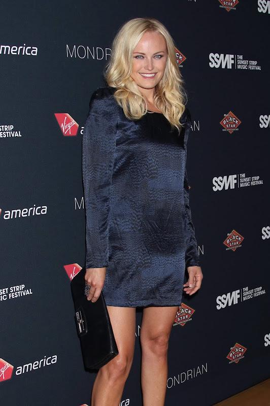 Malin Akerman in a short dress