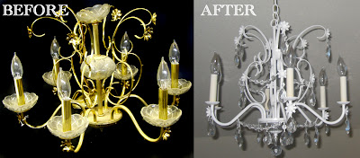 20 Reuse Ideas for Dated Brass and Glass Chandeliers The Kim Six Fix – Chandelier Makeover Ideas