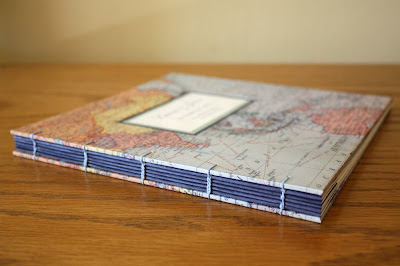 map book for international wedding by linenlaid&felt in Nashville