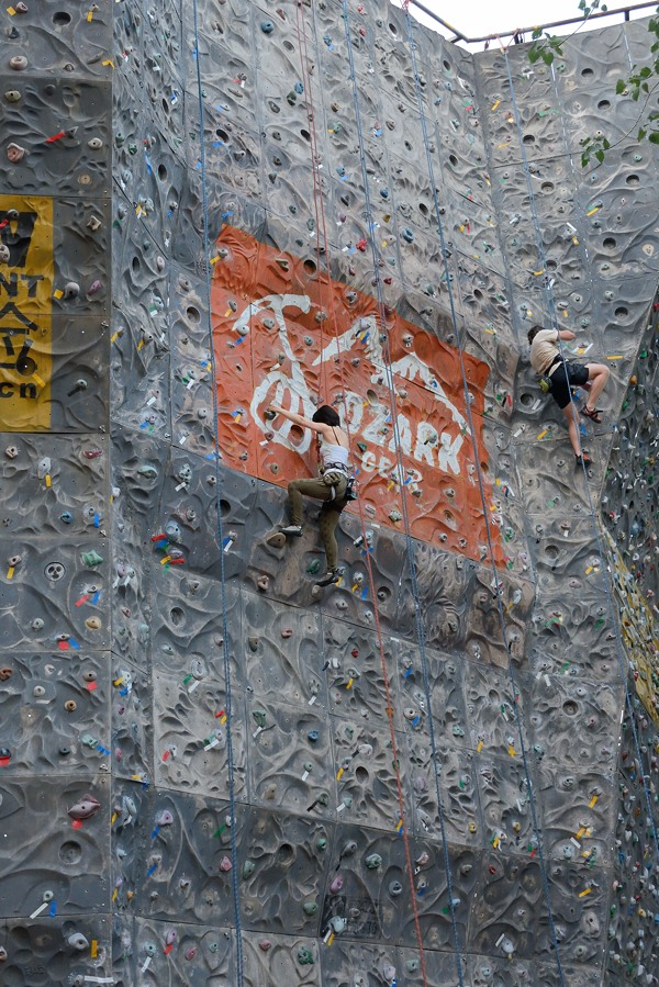 Ozark climbing wall at Ritan park in Beijing