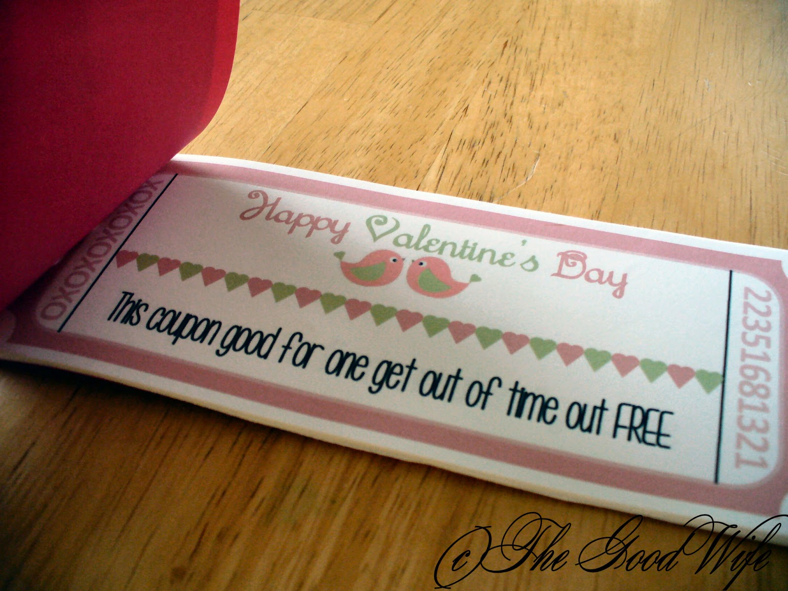 The Good Wife: Homemade Valentine Coupons and a Free Printable