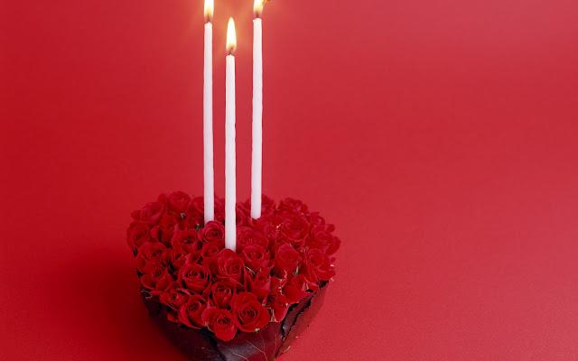 Hình nền tình yêu trái tim hoa hồng