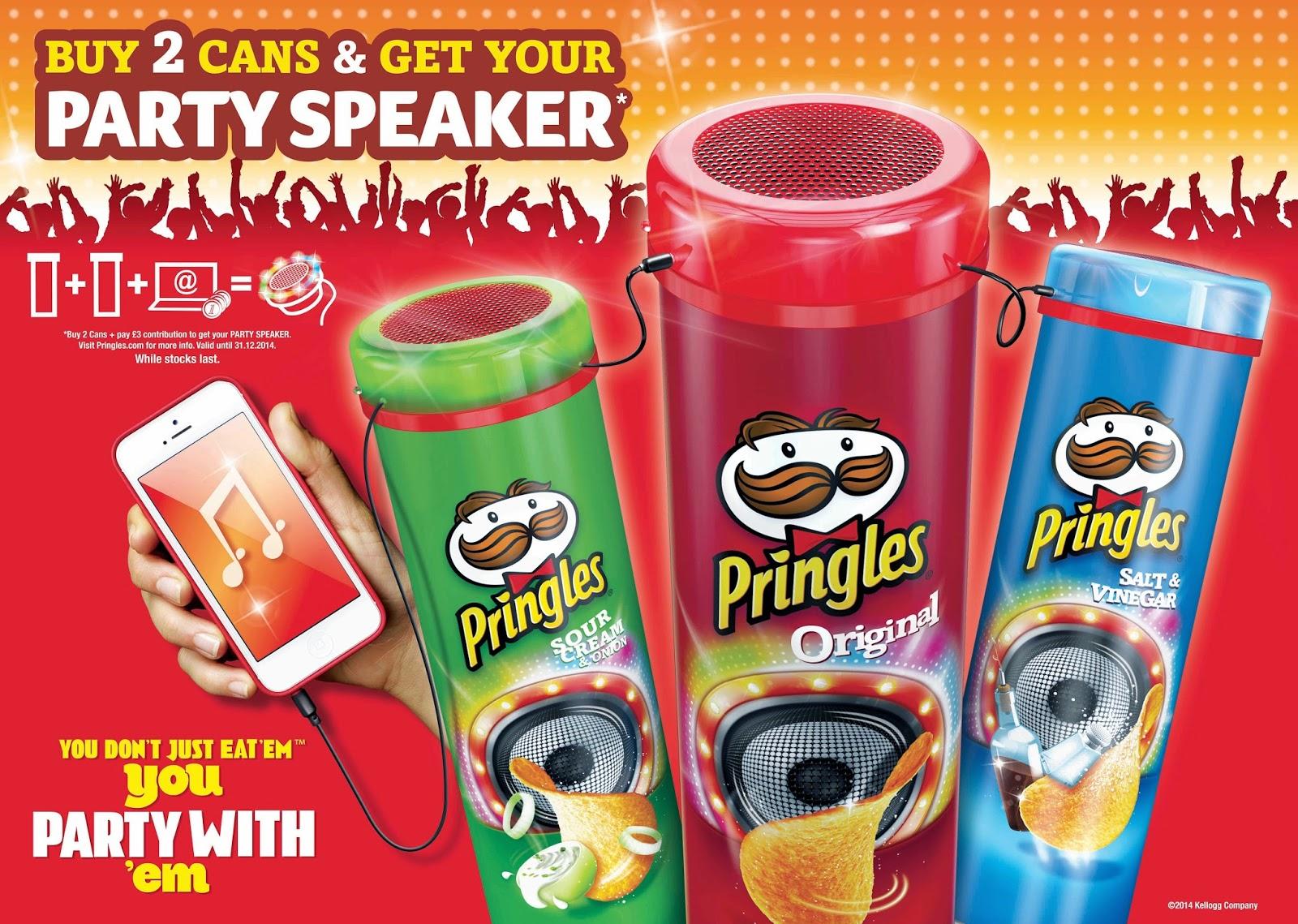 freebie alert free pringles speaker